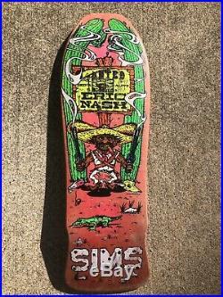 Vintage Original Eric Nash Sims Skateboard Deck Bandito 2 Pink