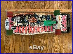 Vintage Original Jeff Kendall Pumpkin Santa Cruz Skateboard