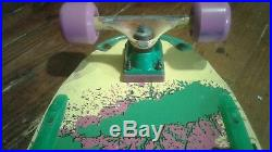 Vintage Original Madrid Splatter Complete Skateboard Stranger Things