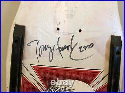 Vintage POWELL PERALTA 80's TONY HAWK CHICKEN SKULL SKATEBOARD DECK Autographed