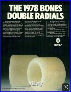 Vintage Powell Peralta 1978 BONES Wheels #1 Double Radials Red Text Skateboard
