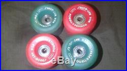 Vintage Powell Peralta Rat-Bones Skateboard Wheels 85A Red & Blue
