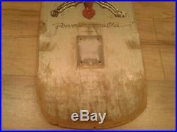 Vintage Powell Peralta Skull & Sword Skateboard Deck Silver 1978 POWELL