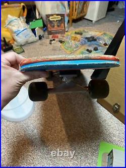 Vintage Powell & Peralta Skull & Sword Skateboard. P&P Wheels Bones Threes 85A