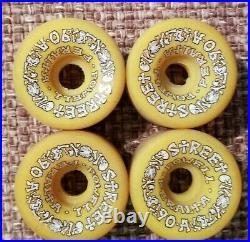 Vintage Powell Peralta Street Bones OG Yellow Skateboard Wheels 57mm/90a Used
