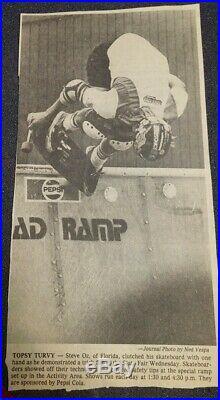 Vintage Rad Ramp skateboard half pipe. Pepsi ramp 1978. Caster bad Co Hobie