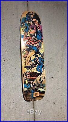 Vintage Ray Meyer Freestyle Skateboard Deck Santa Cruz 1989 Skate Deck Scs
