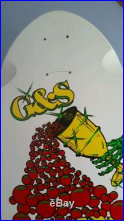 Vintage Reissued 1980's G&S Billy Ruff Chalice Skateboard Autographed Deck