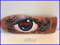 Vintage Rob Roskopp Santa Cruz Eye Old School 80s Skateboard Original