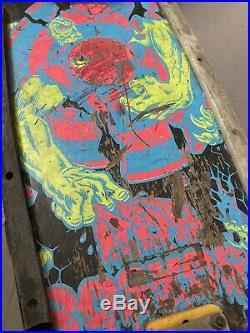 Vintage Rob Roskopp Santa Cruz Skateboard Pro Series Independent Trucks