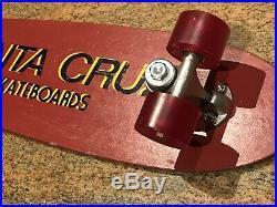Vintage Santa Cruz 1st Gen Fiberglass Skateboard Original 1975