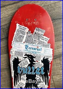 Vintage Santa Cruz Bullet Skateboard Terrorist Deck Nos Og Rare