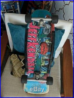 Vintage Santa Cruz Jeff Kendall Pumpkin skateboard deck 1987 rare complete deck