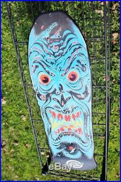 Vintage Santa Cruz Rob Roskopp Face Skateboard Prototype 80's Ugly Face Board
