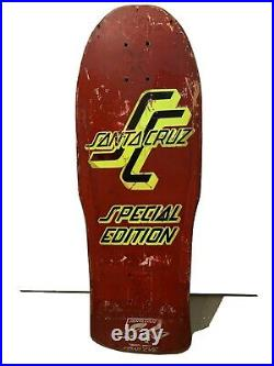 Vintage Santa Cruz Skateboard. 1986 Team deck Special Edition