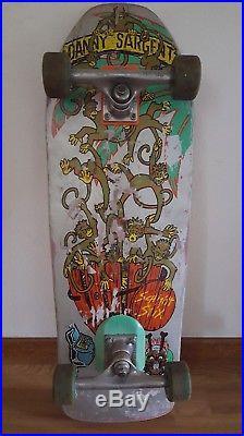 Vintage Schmitt Stix Barrel Of Monkeys Danny Sargent Skateboard 1990 Rare