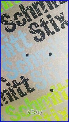 Vintage Schmitt Stix twig stix Silver Dip skateboard deck nos