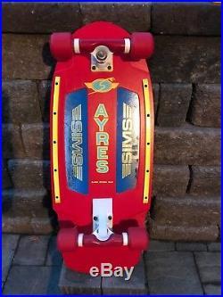 Vintage Sims Ayres Skateboard nos tracker Tunnel Powell Peralta Santa Cruz Alva