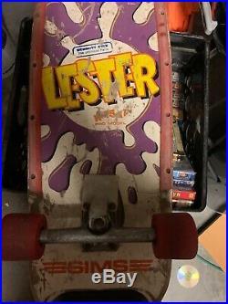 Vintage Sims Lester Kasai Compkete Skateboard