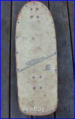 Vintage Sims Lester Kasai OG Complete Skateboard Invader Trucks Bones Wheels