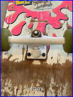 Vintage Sims Lester Kasai OG Splash Skateboard 1980s Vision wheels