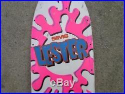 Vintage Sims Lester Kasai Skateboard Deck