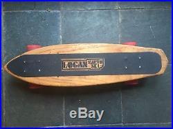 Vintage Skateboard 1970's Bruce Logan Earth Ski Red 70mm Kryptonics Tracker Nice