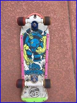 Vintage Skateboard 80's Santa Cruz Rob Roskopp 3 Bones Powell Peralta