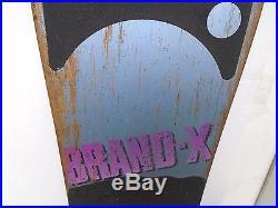 Vintage Skateboard Brand X Skull & Crossbones Madrid Wheels VTG Not Reissue OG