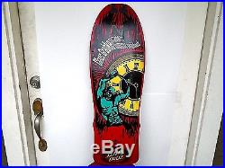 Vintage Skateboard Santa Cruz Claus Grabke Clock Time Genuine VTG Not Reissue OG