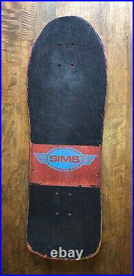 Vintage Skateboard Sims Jeff Phillips Original 80s Rare
