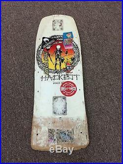 Vintage Skull Skates Hackett Skateboard Deck Street Sicle 1980's Daggers Alva