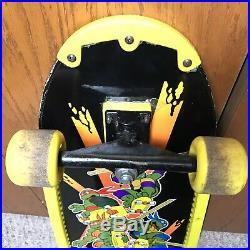 Vintage Teenage Mutant Ninja Turtles Michelangelo Skate Board 1989 Rare Graphic