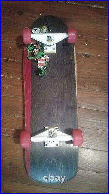 Vintage Toxic complete skateboard with NOS Tracker Aggros & Powell Street Bones