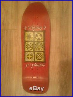 Vintage VISION Joe Johnson Hieroglyphics Skateboard Deck Red Stain