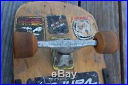 Vintage Variflex Skateboard Deck & Trucks Sims Comp II Wheels Old School 26 cm