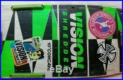 Vintage Vision Pro Model Skateboard, Independent Trucks Shredded Board