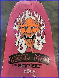 Vintage Zorlac Skateboard Deck x 1986 Devil Fish Deck