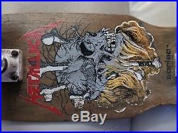 Vintage Zorlac Skateboard Metallica Pushhead