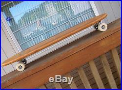 Vintage hobie super surfer multi wooden sidewalk skateboard surfboard 1960 jumbo