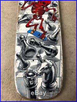 Vintage original Powell Peralta Rodney Mullen Chess Freestyle Skateboard Deck OG