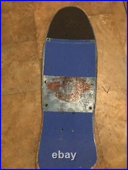 Vintage powell peralta skateboard Og Lance Mountain Family Crest Blue! LOOK
