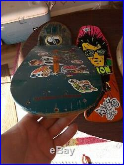 Vintage powell peralta skateboard deck Sword And Skull pig brite Og