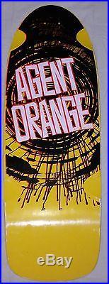 Vintage skateboard NOS VISION Agent Orange 1984 (Sean Cliver The Disposable)