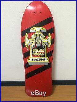 Vintage skateboard OG Circle A 1986 Duane Peters NOS CONDITION