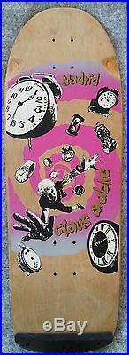 Vintage skateboard USED MADRID Claus GRABKE 1986 not NOS