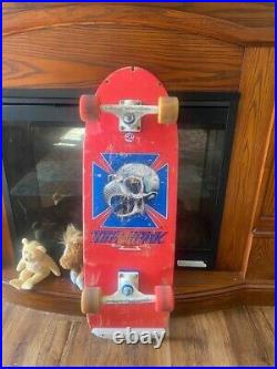 Vintage skateboard complete has Rat Bone wheels Tracker trucks