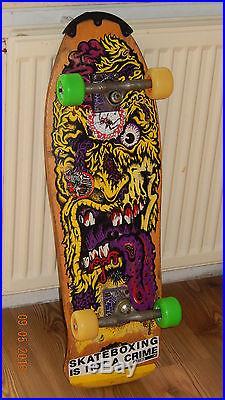 Vintage skateboard deck Rob Roskopp Santa Cruz orginal 1988 face old school Nos