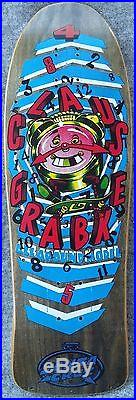 Vintage skateboard mint SANTA CRUZ Claus Grabke All Around 1990 not NOS drilled