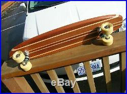 Vintage wooden Hobie 9 stringer sidewalk surfboard skateboard 1960s DECAL box